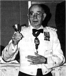Col Prescott with Founders Cup,  c1970